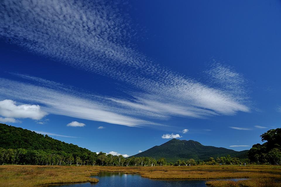 燧ケ岳と鰯雲