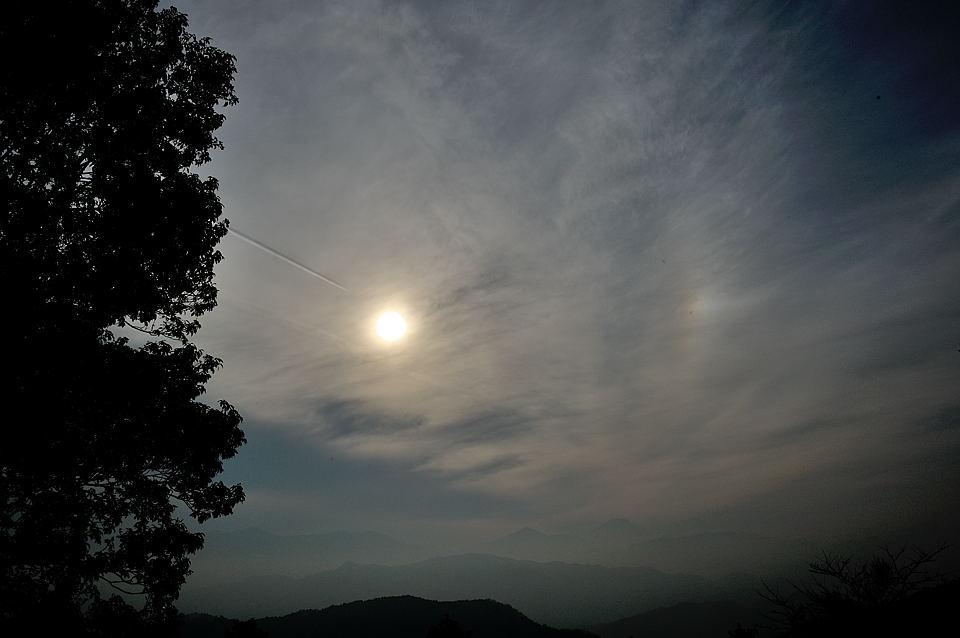 幻日と飛行機雲