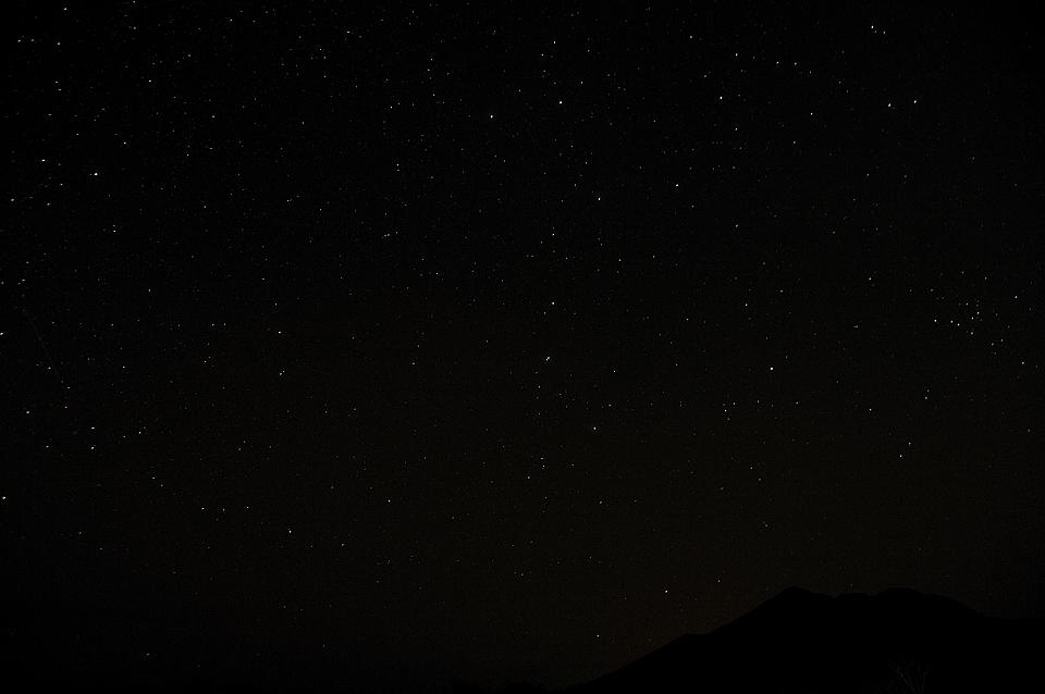 燧ケ岳と北斗七星