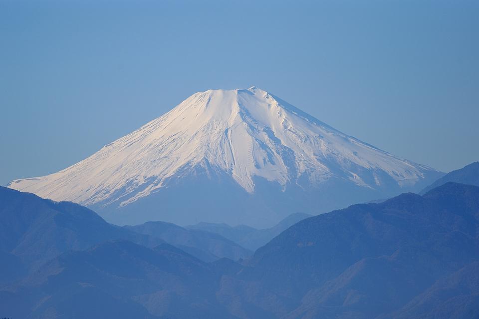 高尾山頂からの富士山