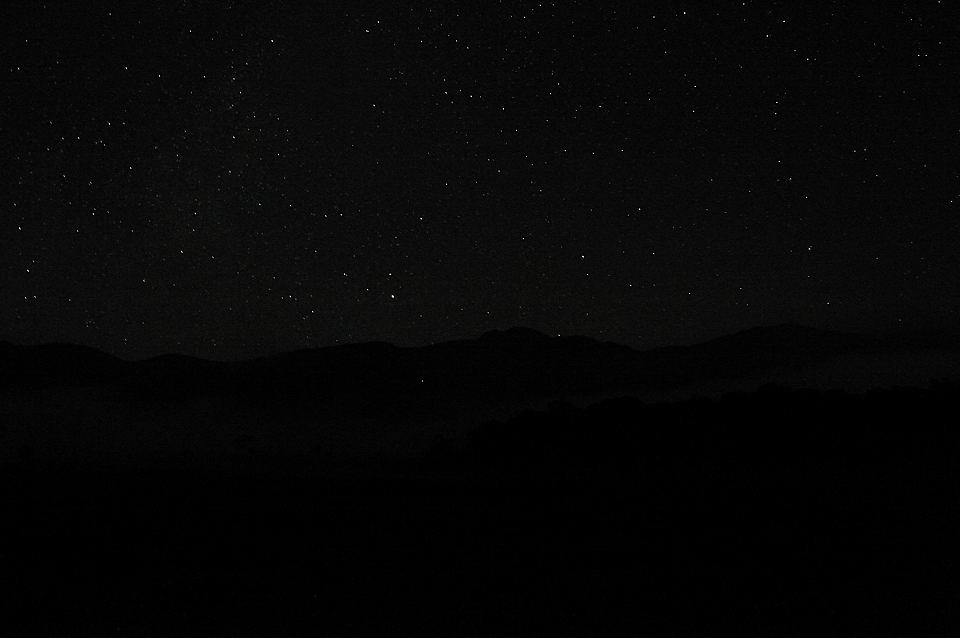 景鶴山と夏の星座