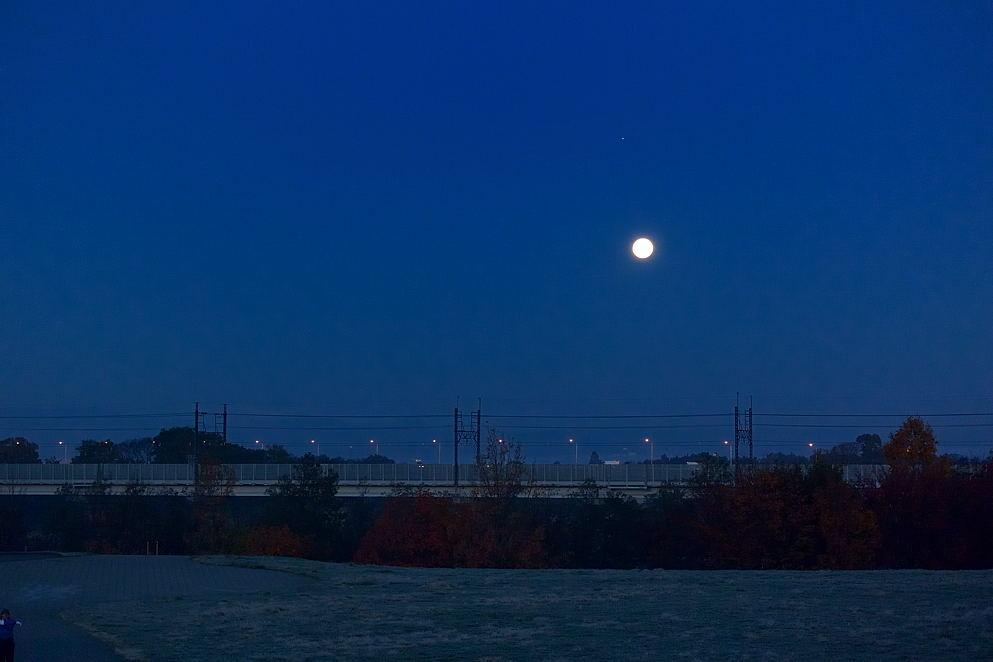 満月、木星