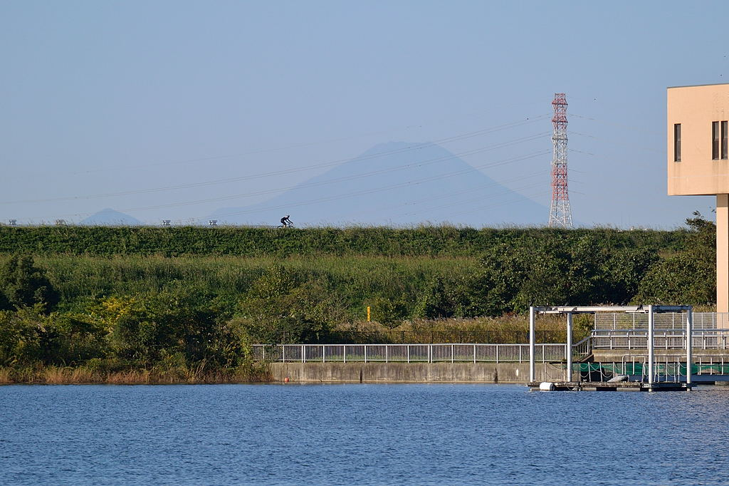 富士山が見えています