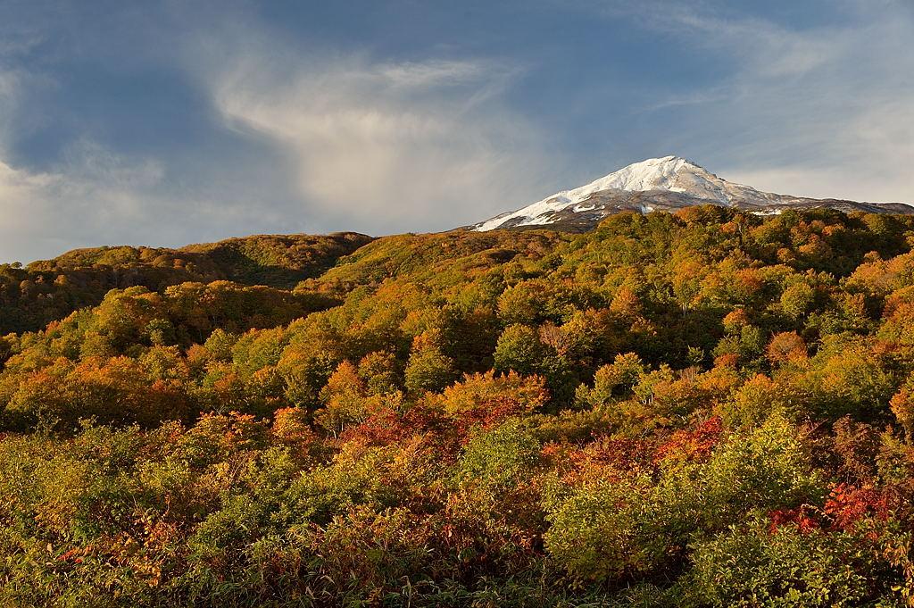 山麓は黄葉の盛り